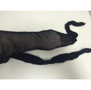 Collants fillets noirs